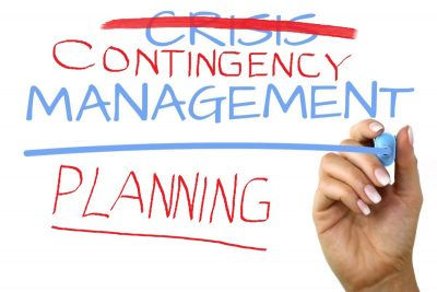 Crisis management is out – contingency planning is in
