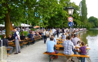 "Biergarten in Munich - in the ""old days"""